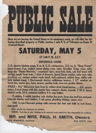 Auction notice