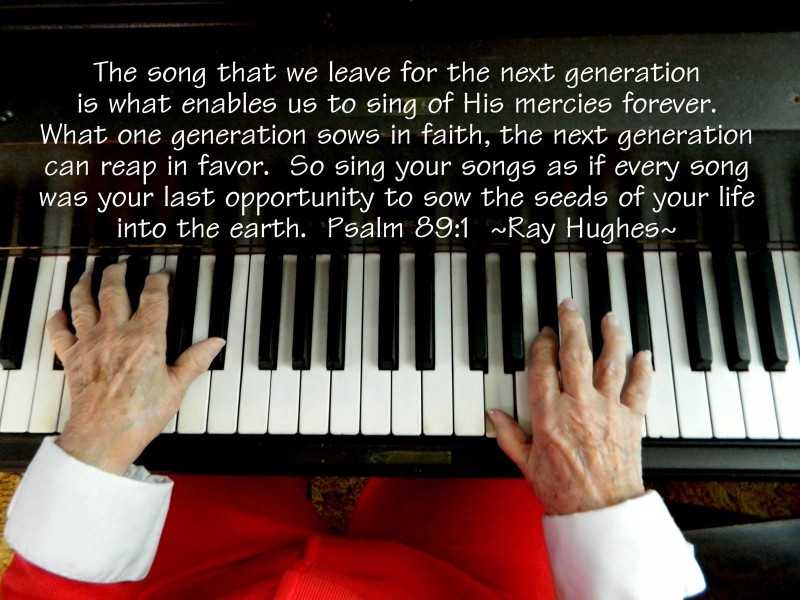 Mom  piano keys  Psalm 89 1